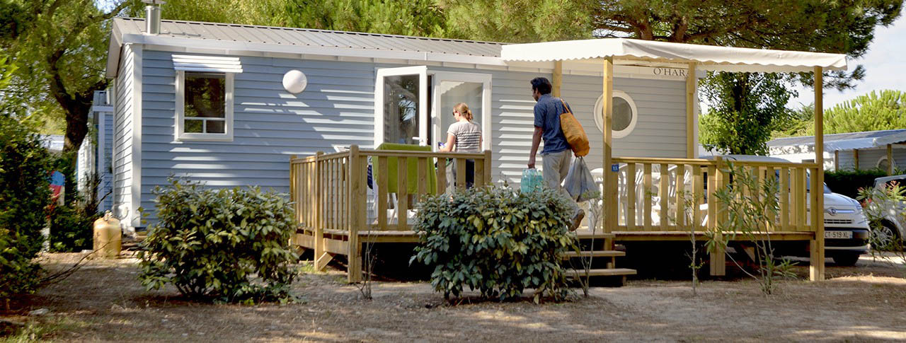 Mobile home in france camping holidays with flower campings for Modular homes france