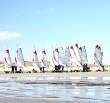 camping baie de somme char a voile