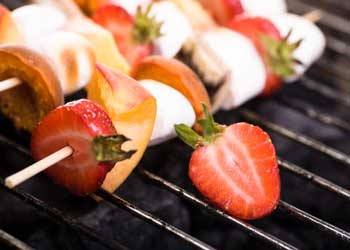 fruit and marshmallow kebab