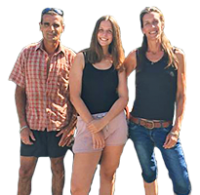Claude, Nathalie & Eva - Camping Les Étangs Mina - Nouvelle Aquitaine