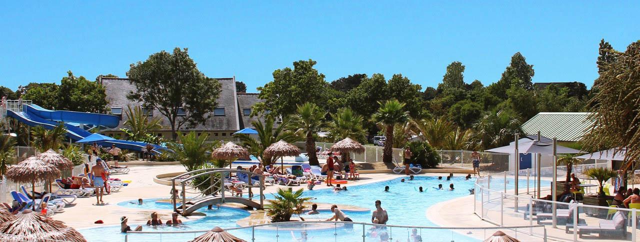 Camping Le Cabellou plage piscine et toboggan aquatique