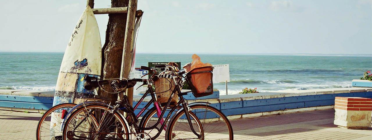 Camping Soulac sur Mer plage vélos