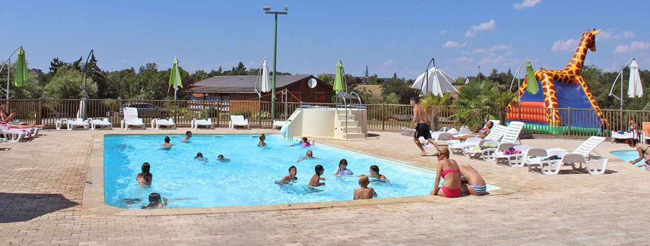 camping Lac de Bonnefon piscine