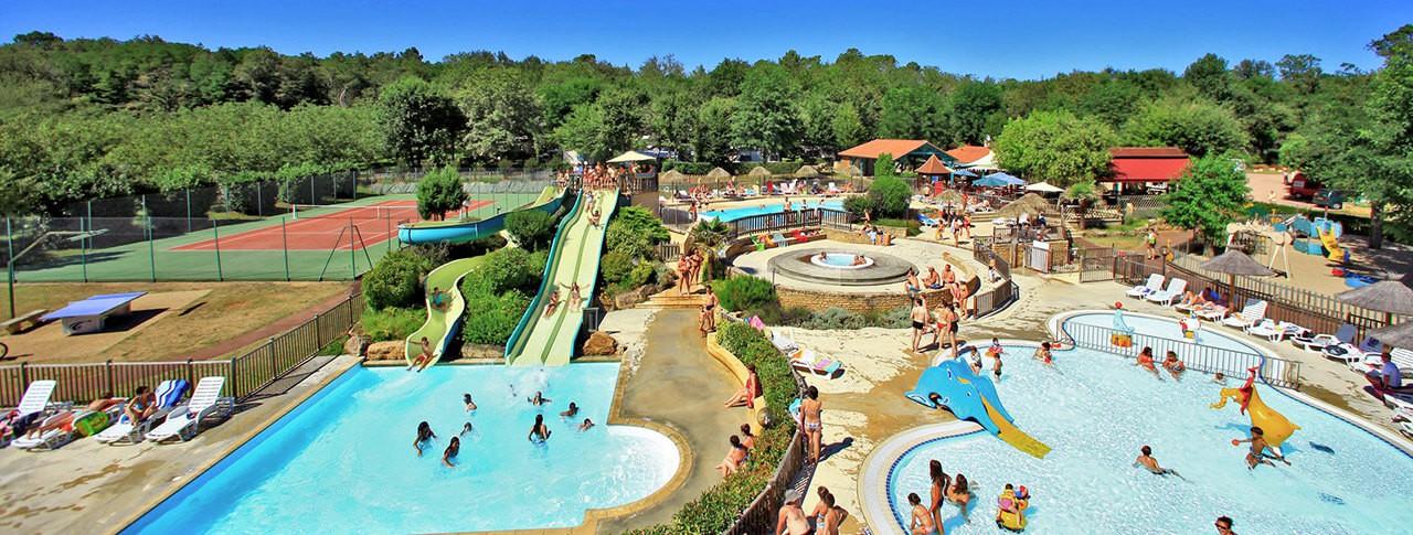 camping La Châtaigneraie de Sarlat complexe aquatique