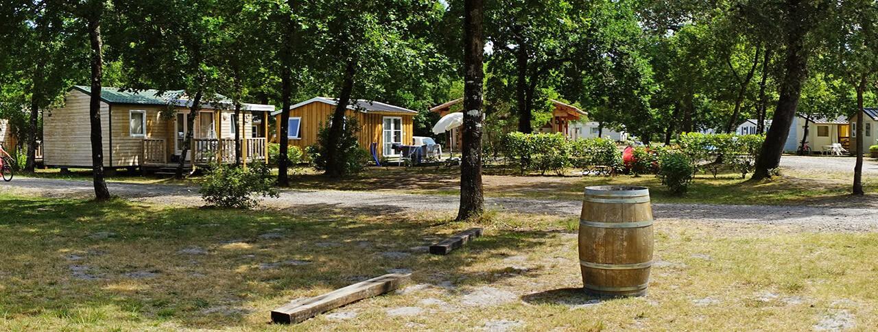 camping Le Médoc Bleu cabane en bois