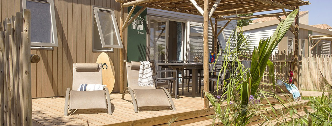 Camping robinson mobil-home homeflower