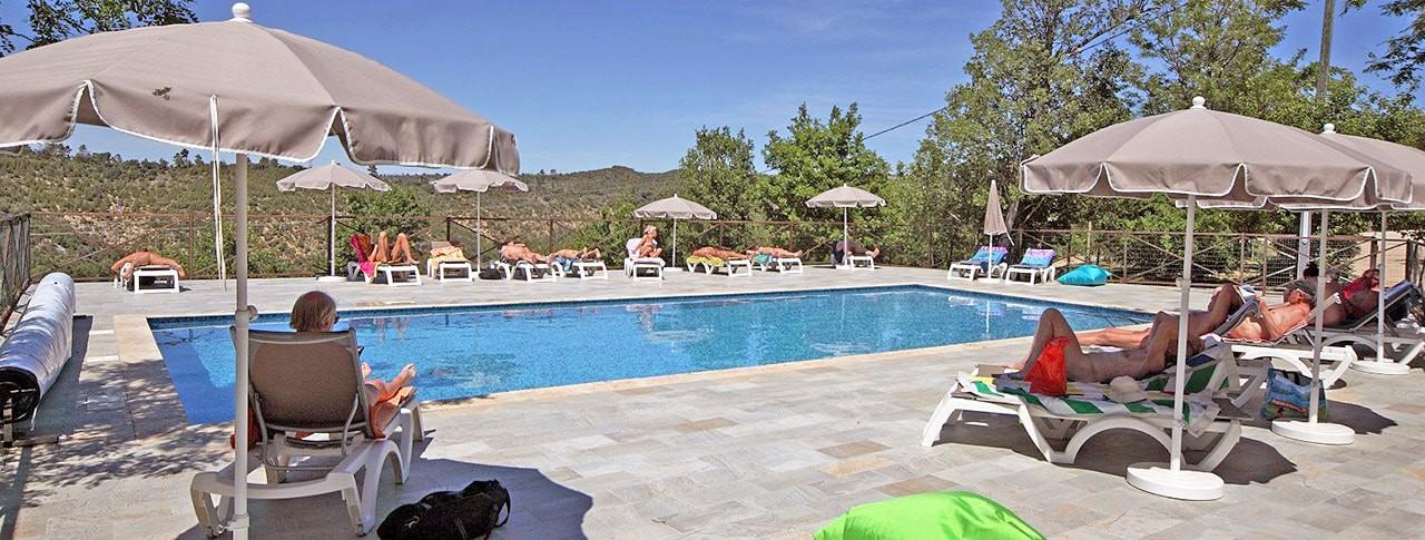 Camping Naturiste Verdon Provence piscine