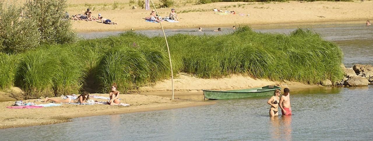 camping Les Portes de Sancerre baignade rivière Loire