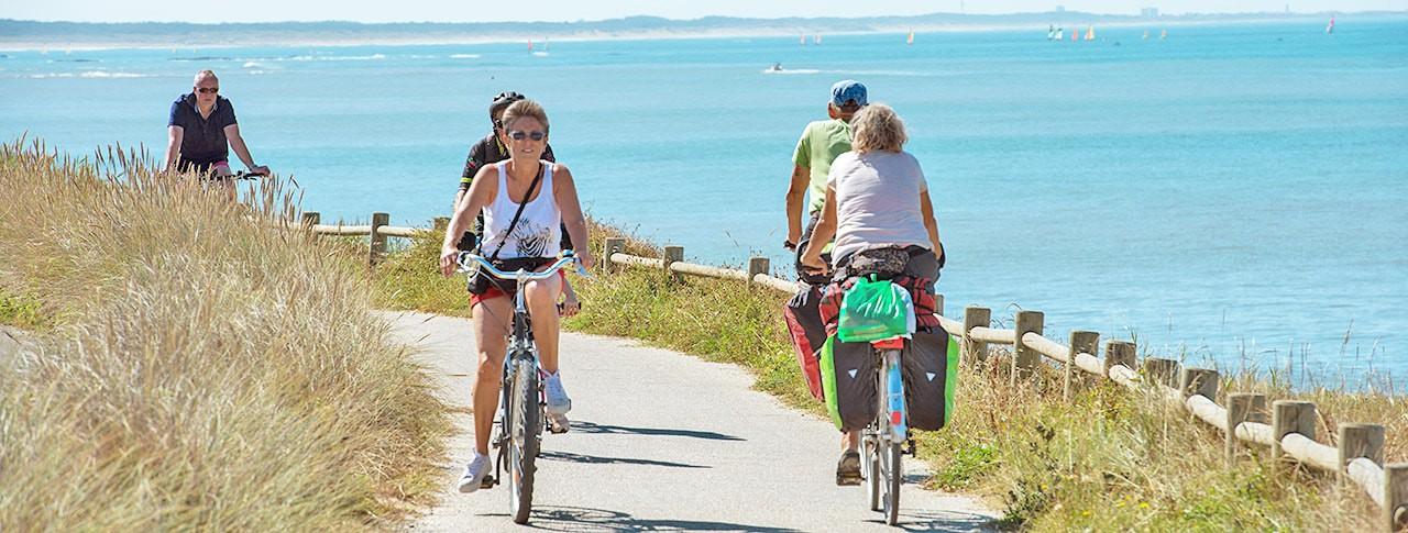 Camping plage vélo Bretignolles sur Mer