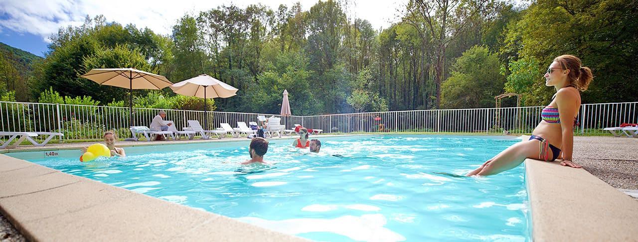 Camping Ariège l'Arize piscine