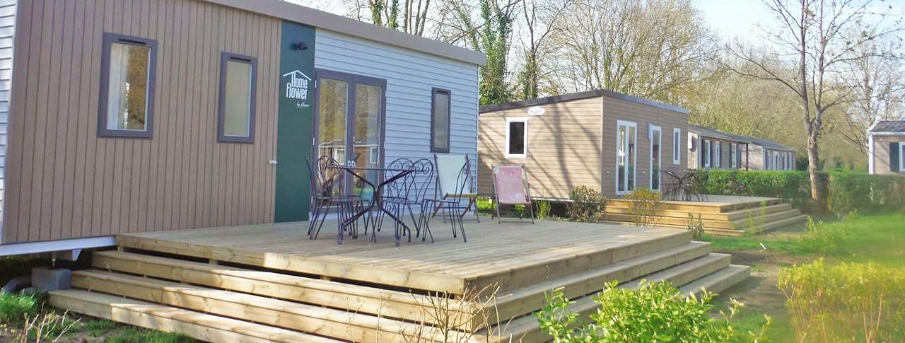 Camping Port Caroline mobil-homes premium Val-de-Loire