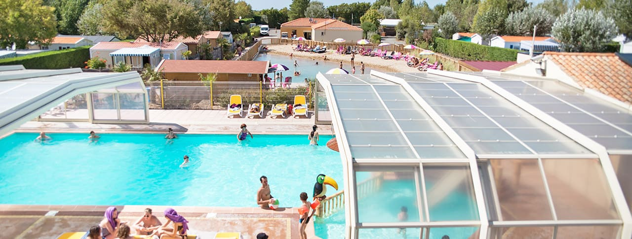 Camping avec Lagon de baignade et piscine Le Petit Paris