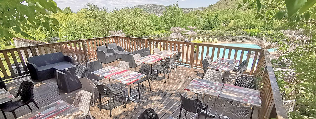 Camping Saint Amand restaurant Ardèche