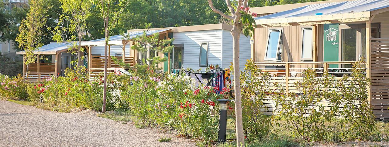 Camping l'Épi Bleu mobil-homes premium