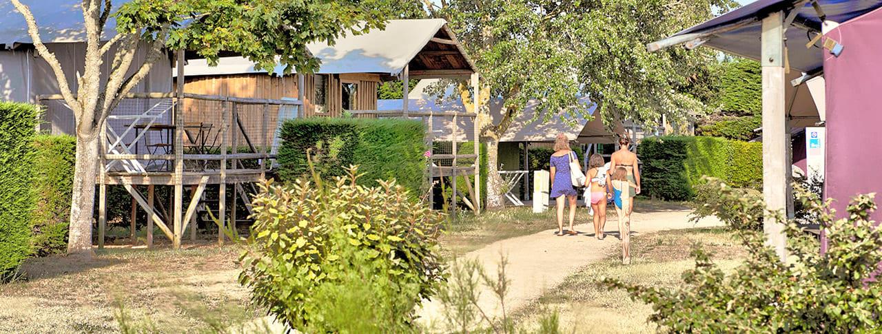 Camping Les Ilates cabane lodge ile de ré