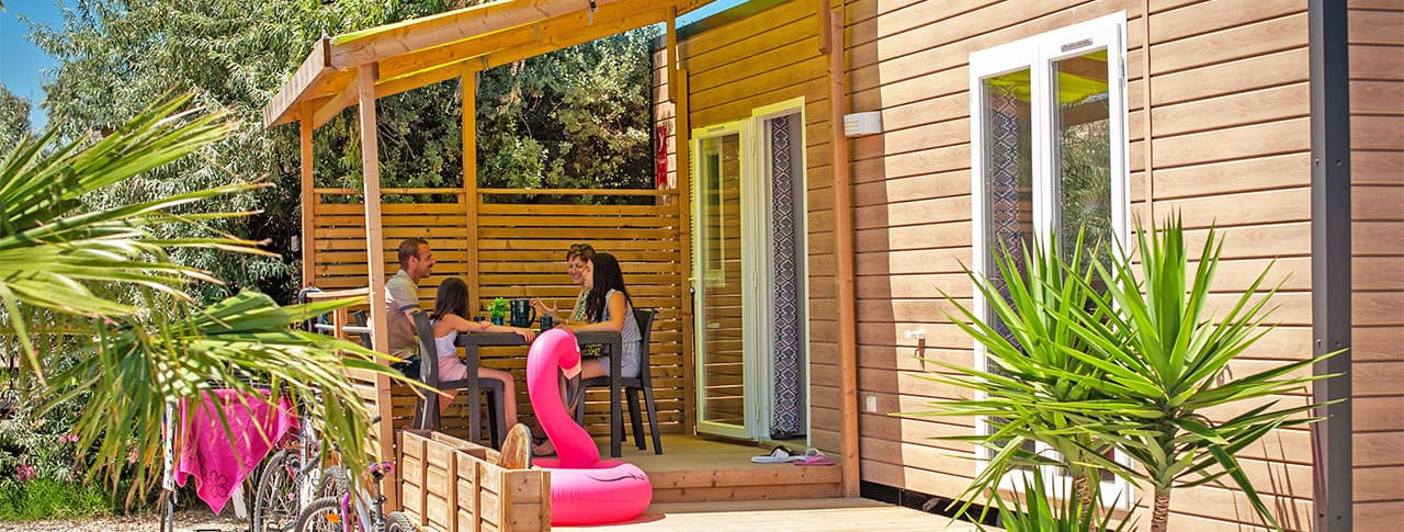 Camping Soleil d'Oc Aude location mobilhome