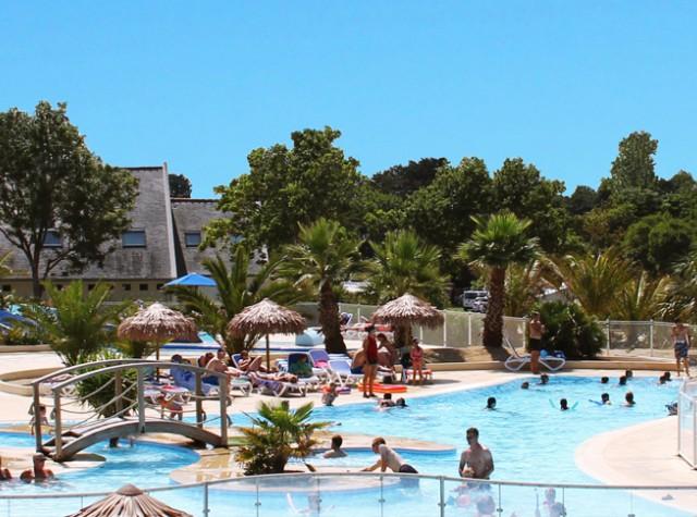 Camping Le Cabellou plage piscine et toboggan aquatique-2
