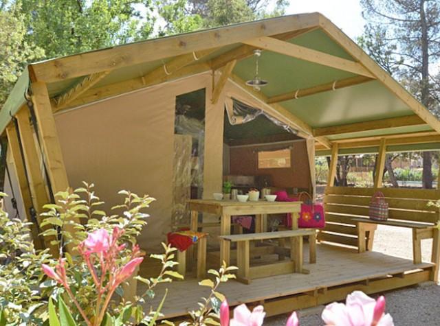 Camping Le Relais de la Bresque - Bungalow toilé - Sillans la Cascade - Verdon-2