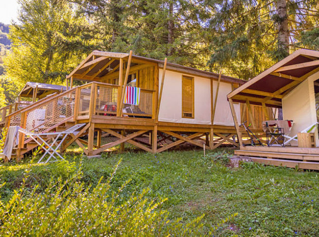 Cabane toile bois Camping Le Pont du Tarn-2