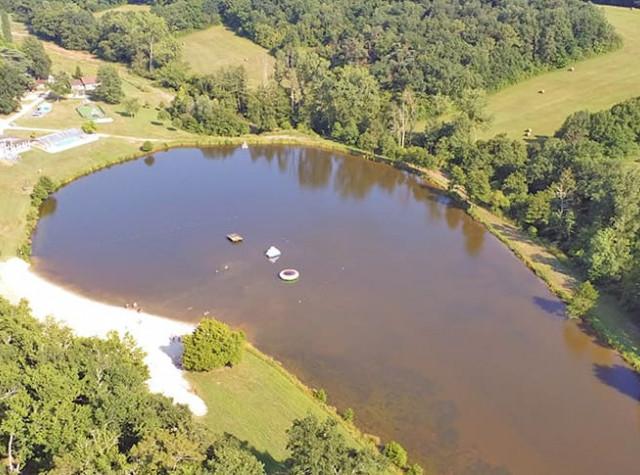 Camping Lac de Lislebonne vue du lac Réaup-Lisse-3