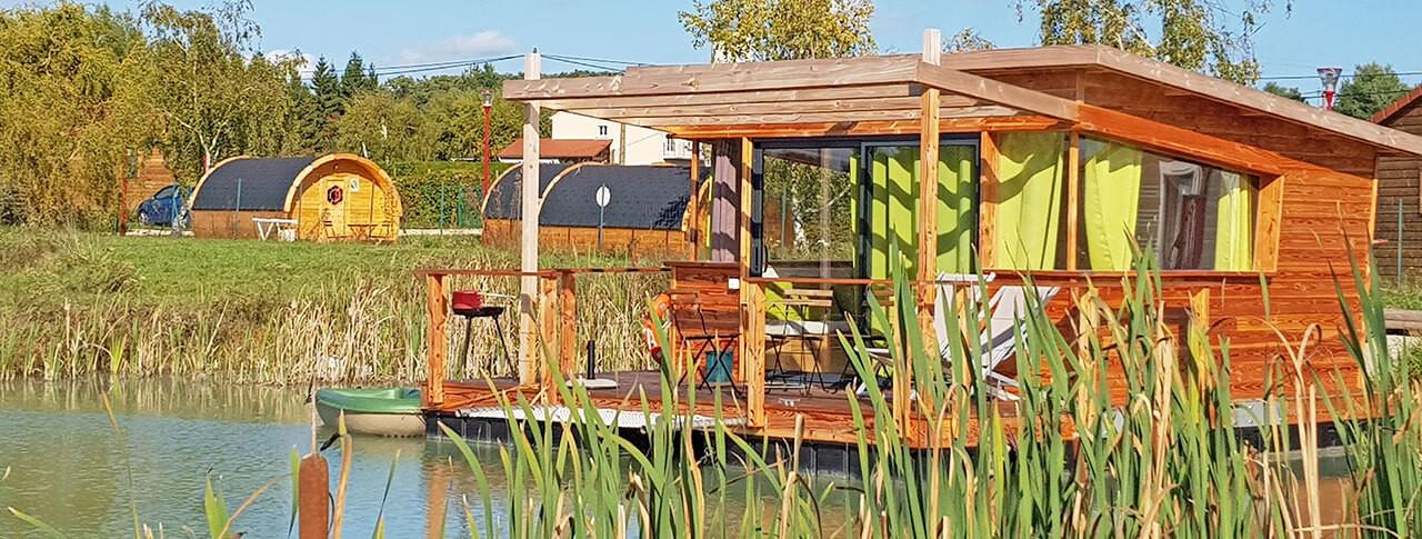 Flower Camping Les Lodges de Blois Chambord cabane sur l'eau